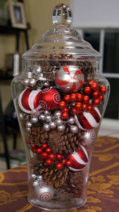 Christmas in a Jar - Affordable Homemade Christmas Table Decorations