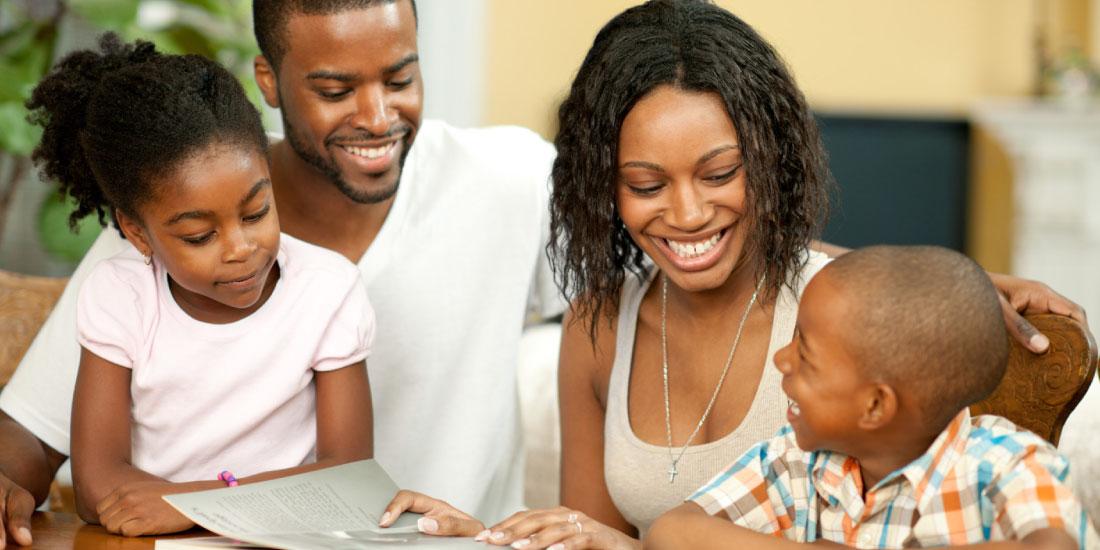happy family enjoying home hacks